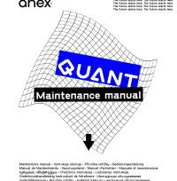 Manual de întreținere Anex® Quant ‒ preview